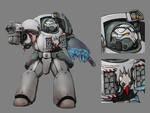 Chapter Master in Terminator Armor - Ashen Shrikes