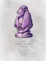 INKTOBER19-12 -  Big Purple Dragon Statue