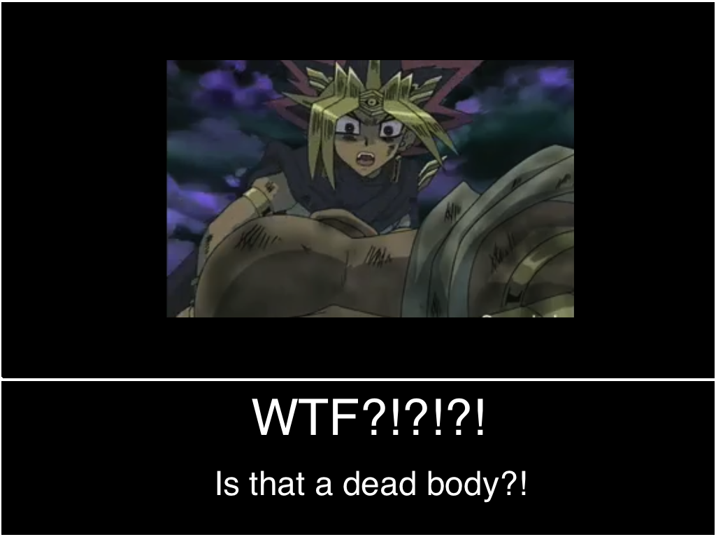 Yami Sees Dead Body by macomister on DeviantArt