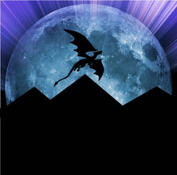 Pyramid Dragon Moon Silhouette