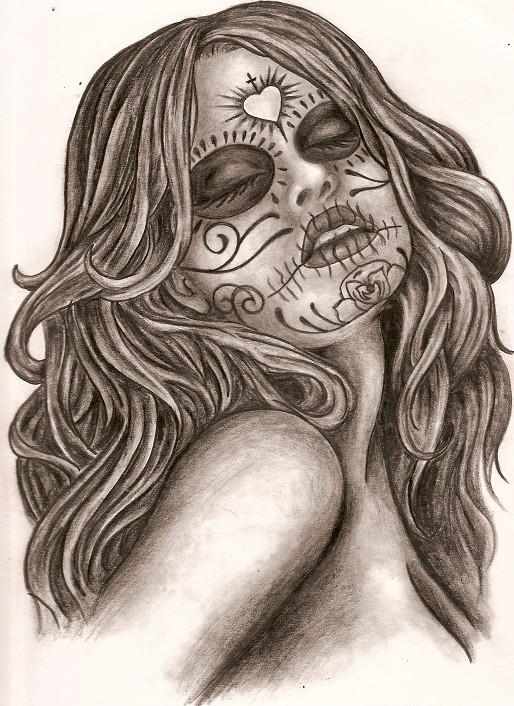 DIA De Los Muertos Tattoo Drawings