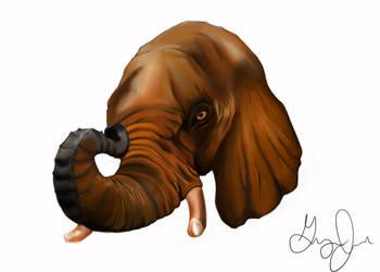 Brown Elephant by Uj-Ju