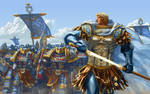 Guilliman leading Ultramarines