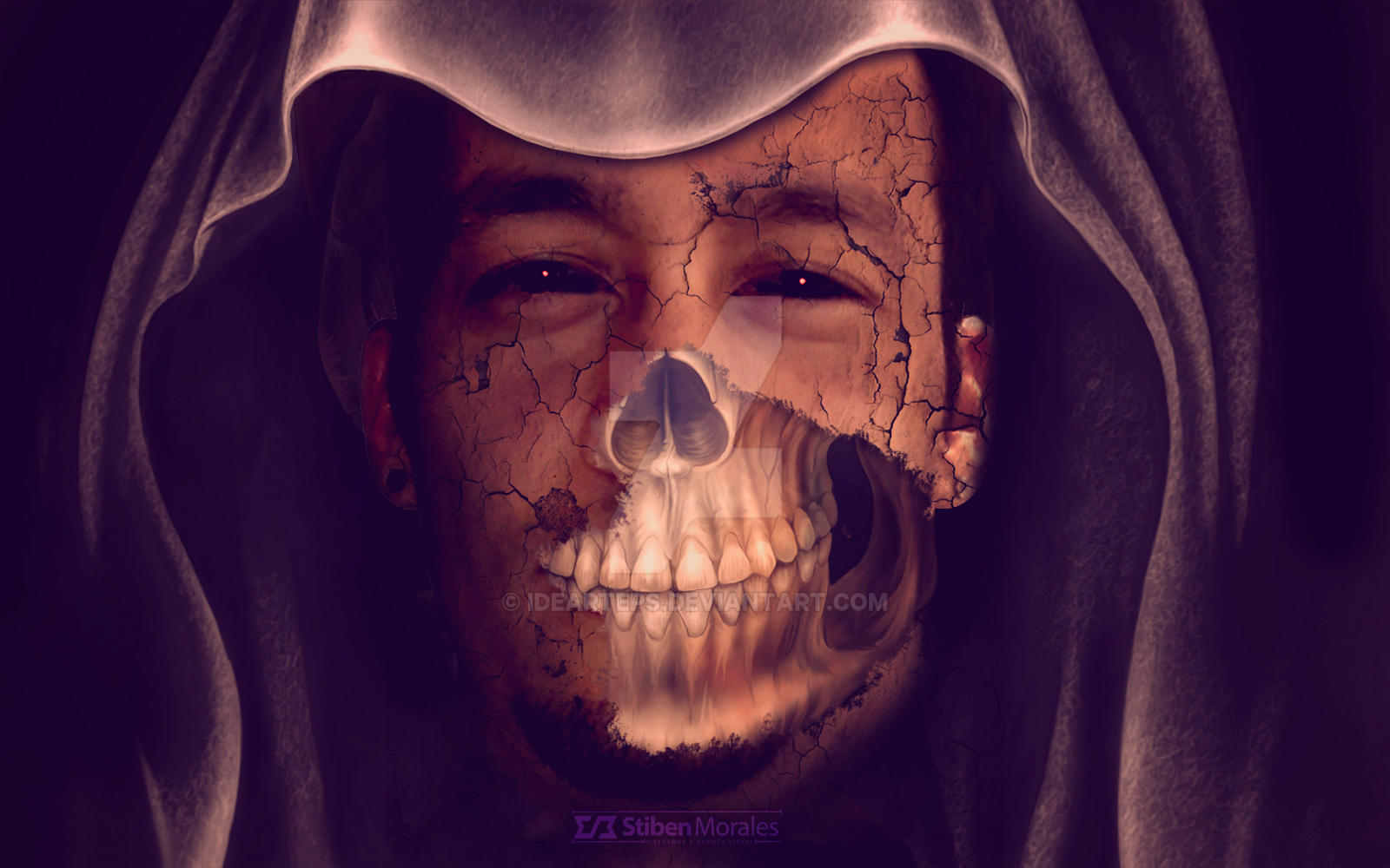 Skull Face Effect - Halloween by idearteps on DeviantArt