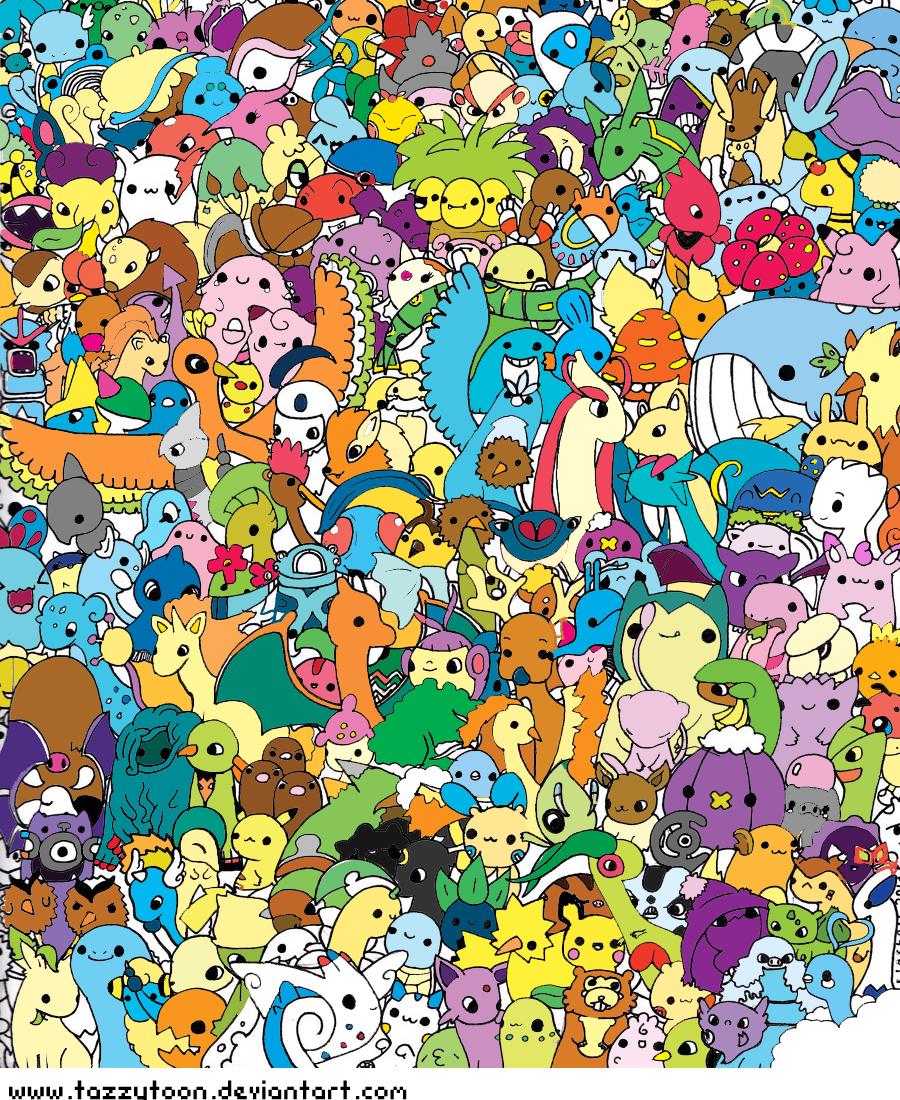Draw All The Pokemon In Colour By Kirikoh On Deviantart