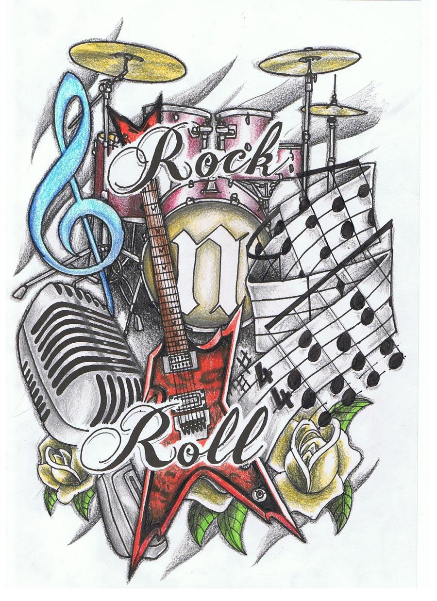 Rock N Roll Tattoo Ideas: Rock And Roll By 3188 On DeviantArt