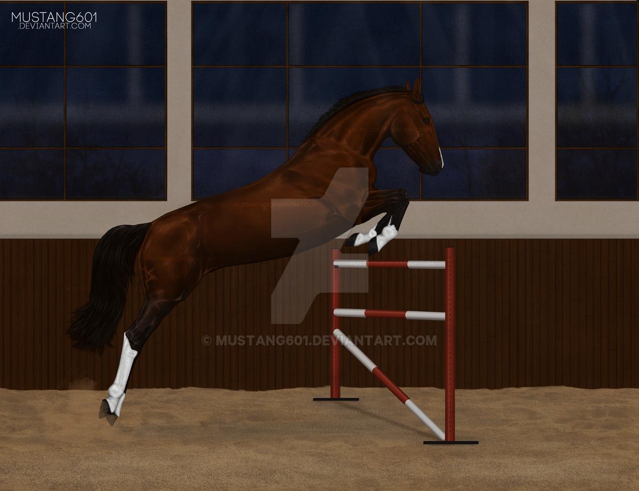 [speedpaint] Loose jumping by Mustang601