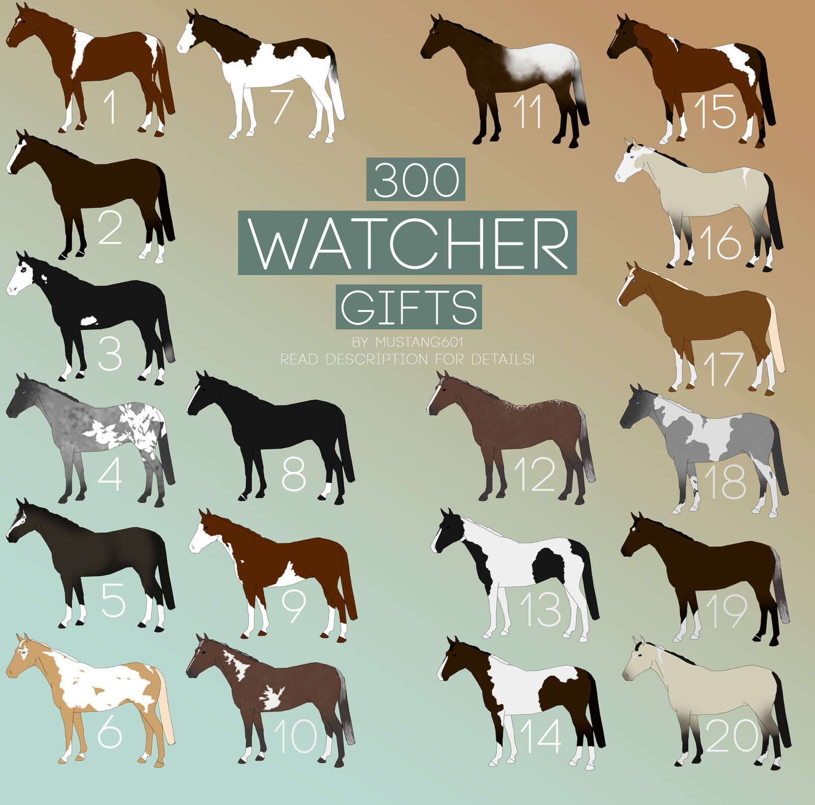 Watcher Design gifts [STILL OPEN] by Mustang601