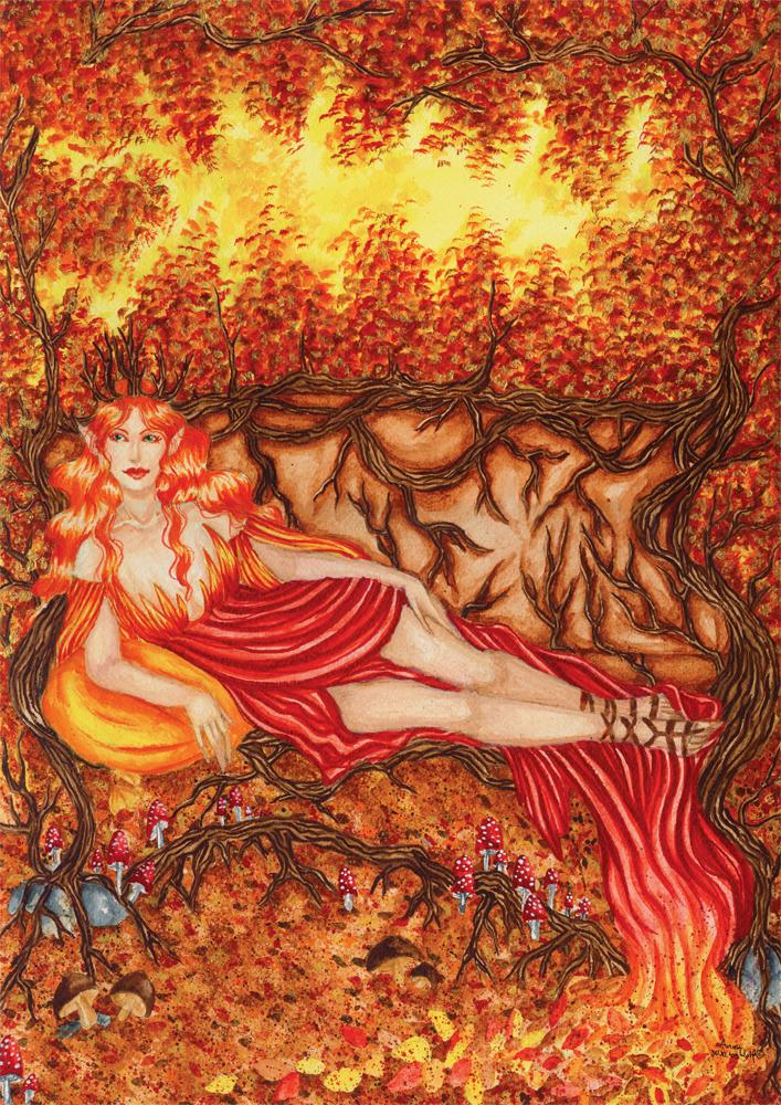 Spirit of Golden Autumn by ArunaWolf