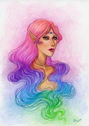 Rainbow in my hair by ArunaWolf