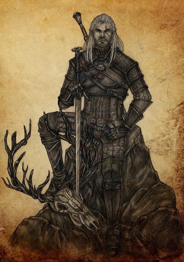Witcher: Geralt by ArunaWolf