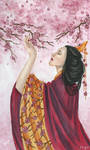 FloralFeb - Cherry blossom by ArunaWolf