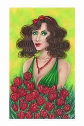 Tulip (colored pencils version) by ArunaWolf