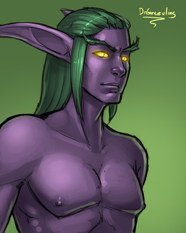 Quickie: Sneaky elf by DrGraevling