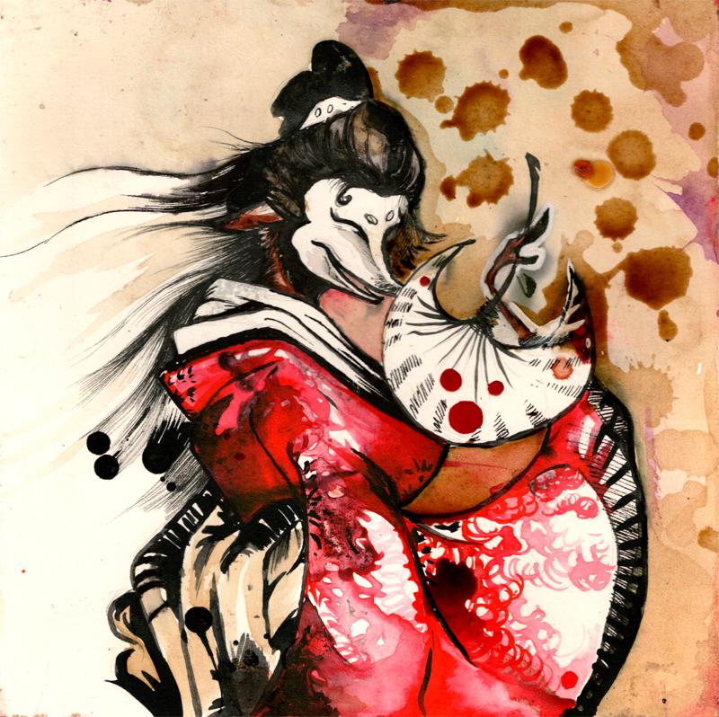japanese demon fox mask