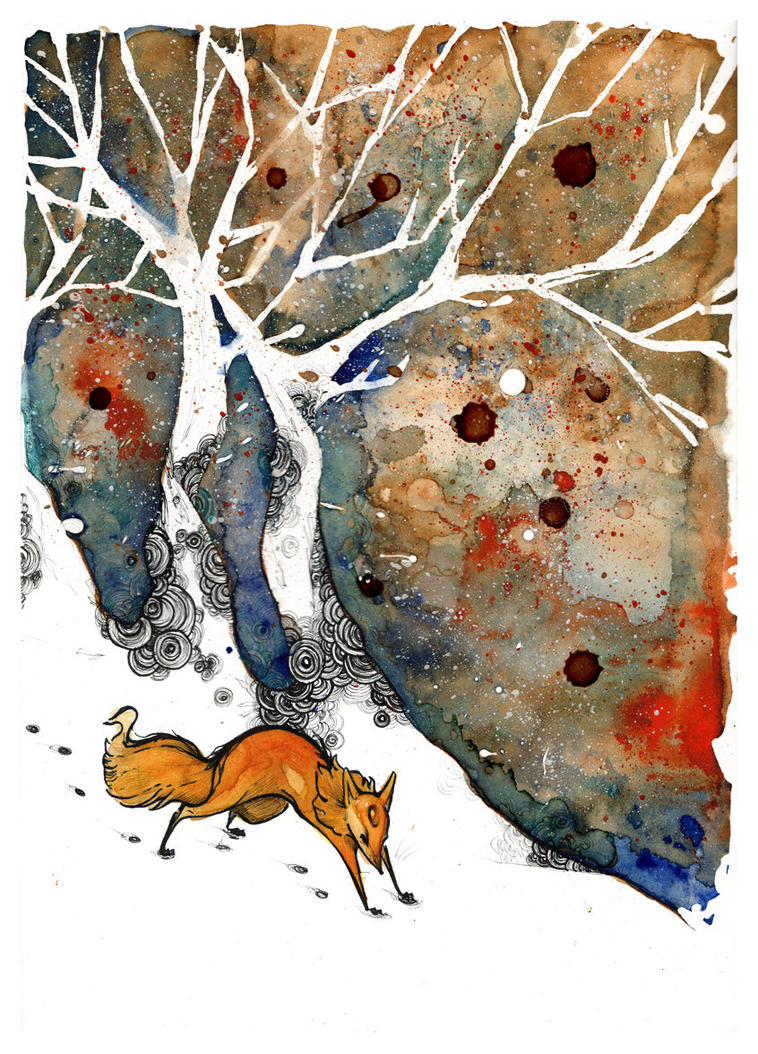 The Winter Fox O Ka Fee by RubisFirenos