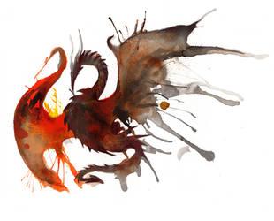 Ink Dragon by RubisFirenos
