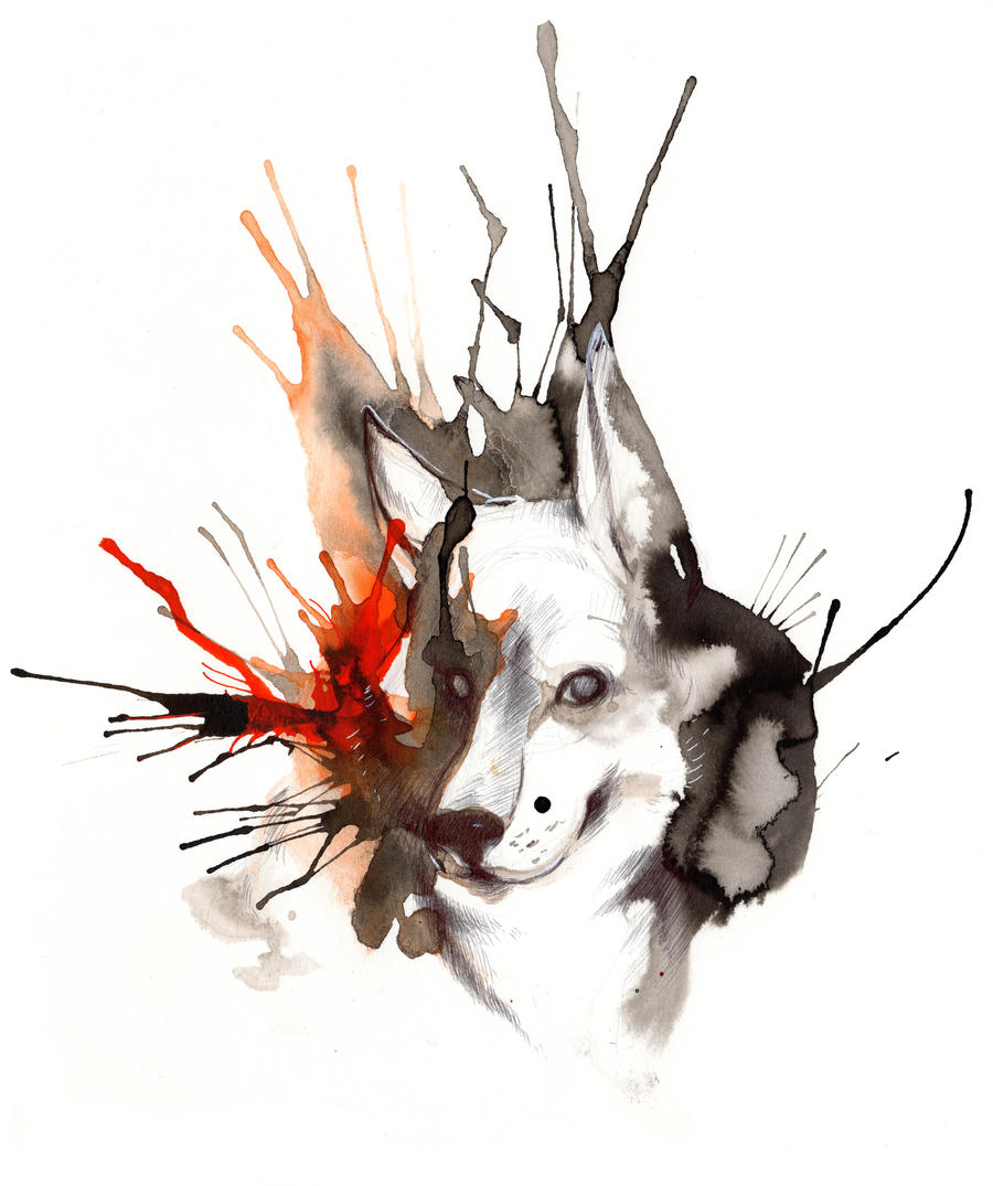 Great Wallpaper Abstract Wolf - ink_wolf_ii_by_rubisfirenos-d6om07z  HD_145149 .jpg