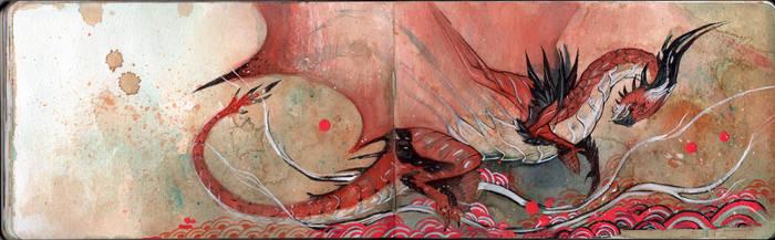 Japanese Painting - Atrucian by RubisFirenos
