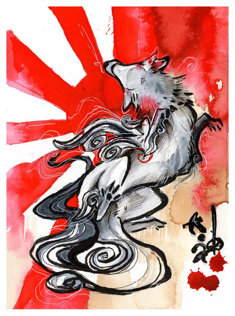 Okami Red Sun by RubisFirenos