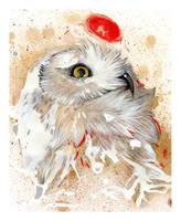 Snowy Owl by RubisFirenos