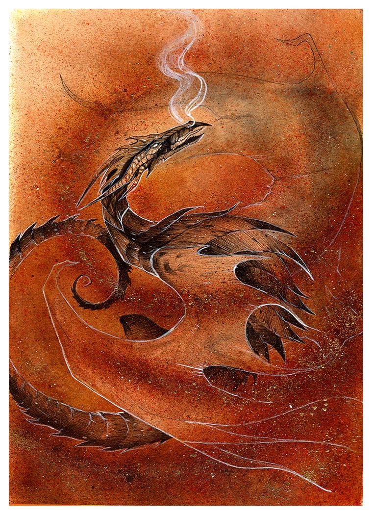 Sandstorm Dragon by RubisFirenos