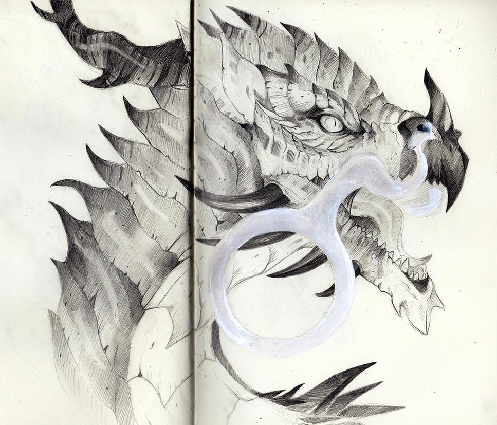 Atrucian Dragon Portrait by RubisFirenos