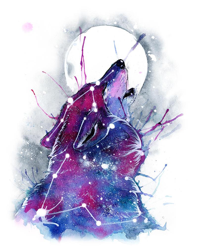 Galaxy Wolf by RubisFirenos