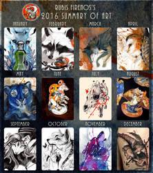 2016 Summary of Art by RubisFirenos