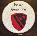 Never Grow Up Embroidery Hoop