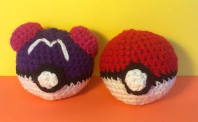 Master Ball and Poke Ball Amigurumis!
