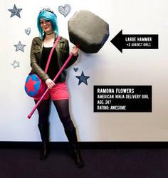 Ramona Flowers - American Ninja Delivery Girl by madizzlee
