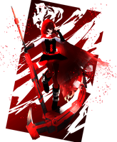 ~RWBY Volume 6: Ruby Rose Card~ by TheFaunDoll-sCanvas