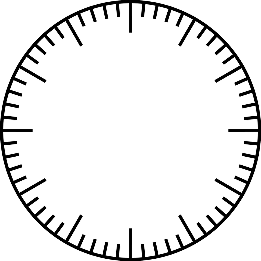 Circle Image Of Base 60 Clockface 287374068 on Blank Number Line Template