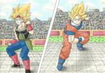 Bardock vs Son-Goku