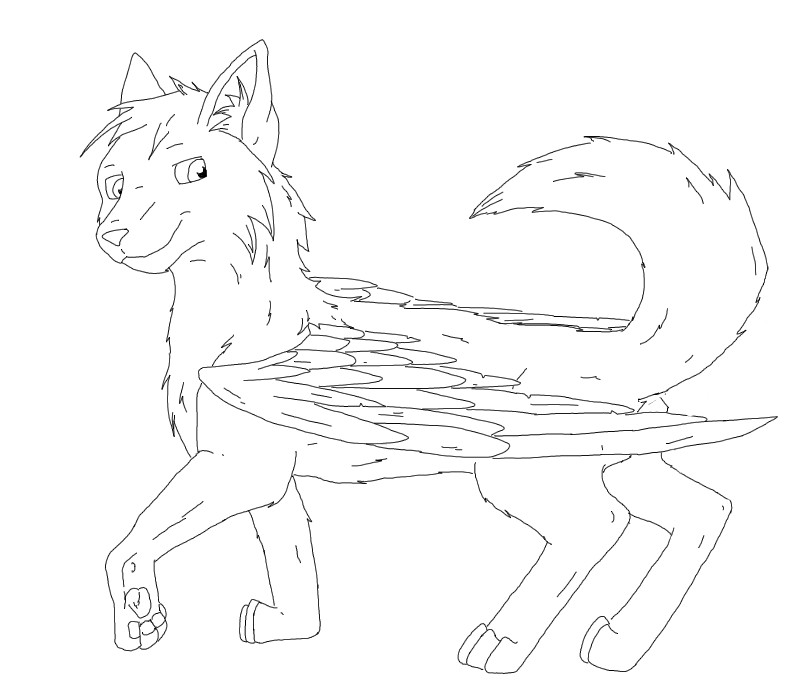 Coloring Pages Crystalwolf