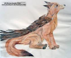 flying fox by true-crystalwolf