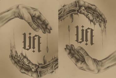 life ambigram by true-crystalwolf
