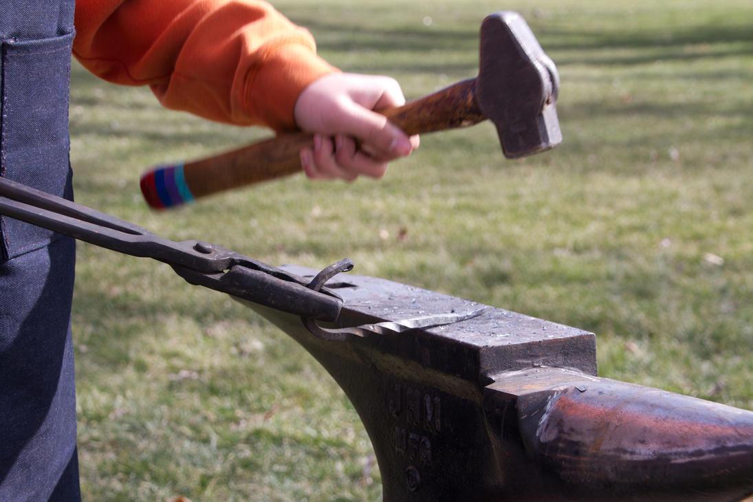 Kids Blacksmithing by AmblingPhotographer