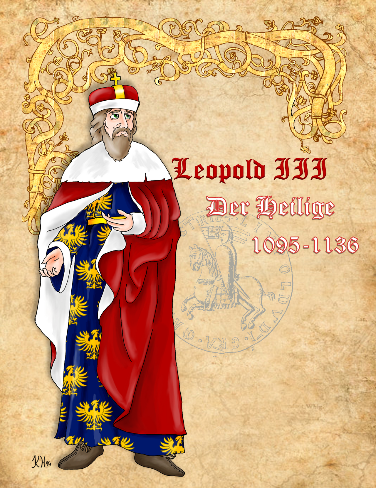 Saint Leopold III of Austria by Pelycosaur24
