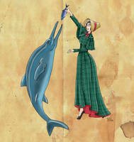 Mary Anning and her Ichthyosaur