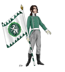Self-Portrait as Napoleonic Landwehr Soldier