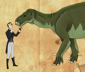 Gideon Mantell and his Iguanodon by Pelycosaur24