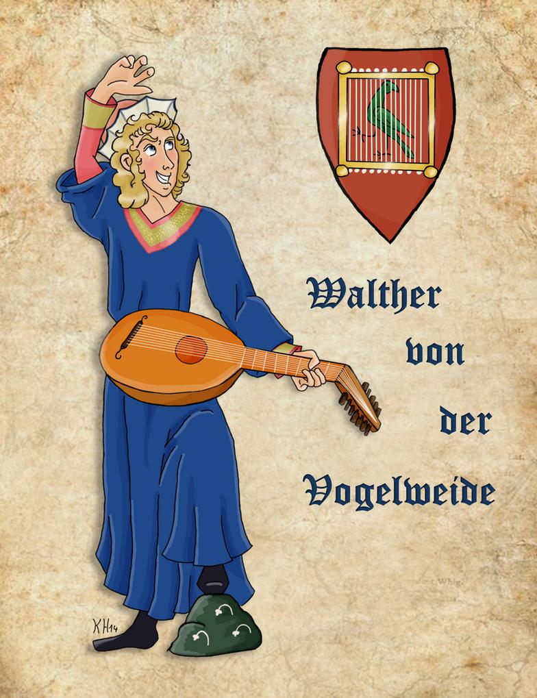 Medieval Rockstar Walther von der Vogelweide by Pelycosaur24