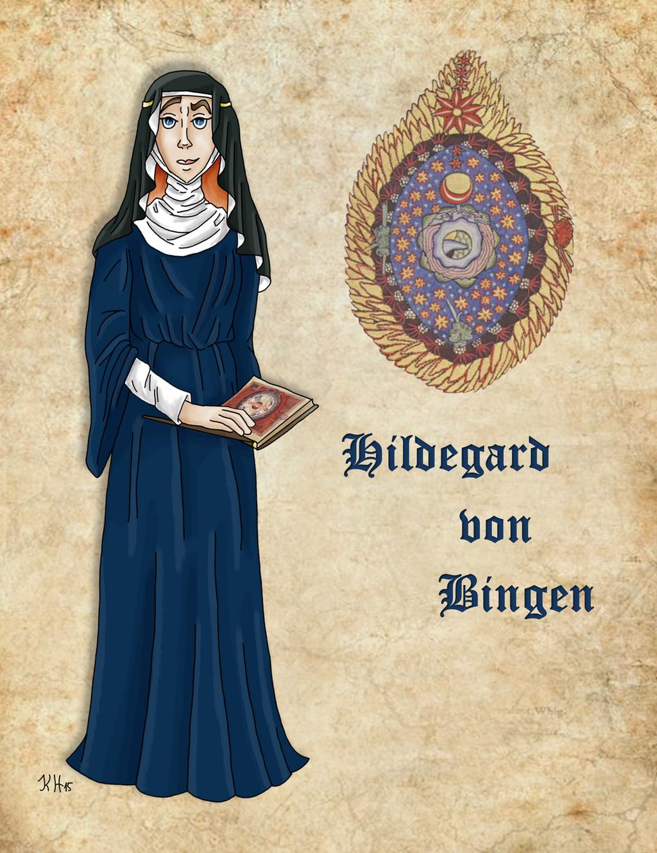 Medieval Scientist Hildegard von Bingen by Pelycosaur24