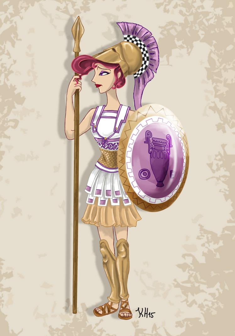 historic meg disney warrior princess by pelycosaur24 on