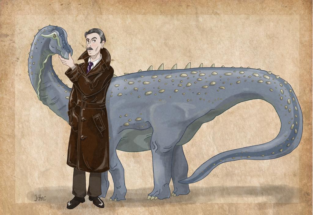 Ferenc Nopcsa and his Magyarosaurus by Pelycosaur24