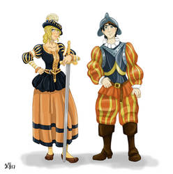 Percy and Annabeth 1604 - Commission by Pelycosaur24