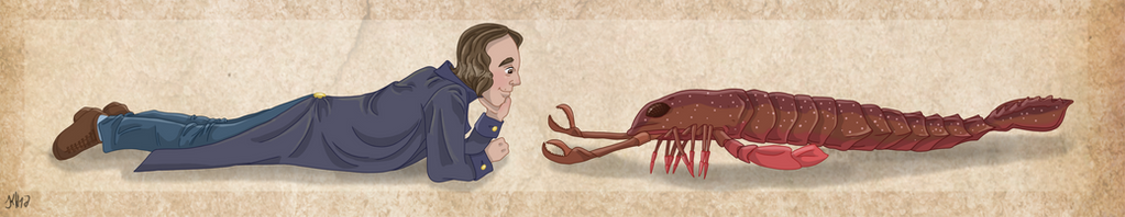 Louis Aggasiz and his Pterygotus by Pelycosaur24