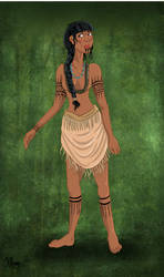 Historical Pocahontas by Pelycosaur24